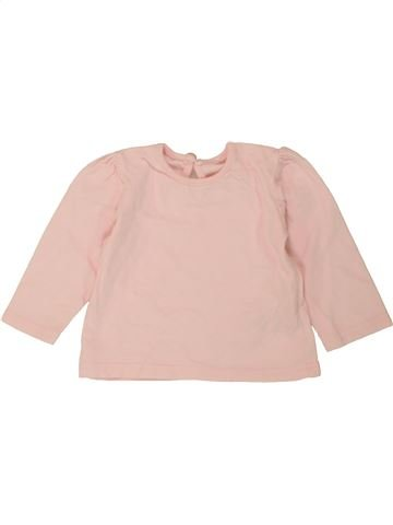 T-shirt manches longues fille GEORGE rose 6 mois hiver #1490170_1