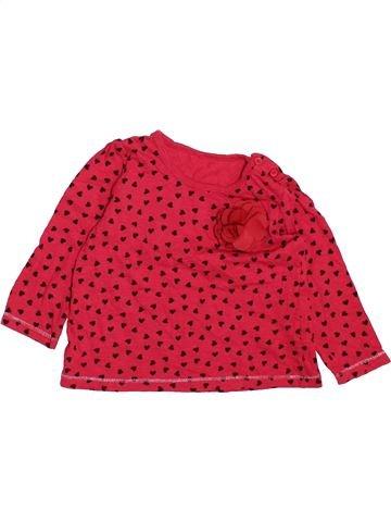 T-shirt manches longues fille MATALAN rouge 18 mois hiver #1490611_1