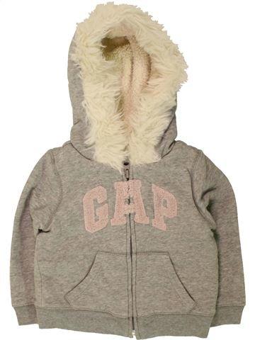 Sweat fille GAP gris 2 ans hiver #1490782_1
