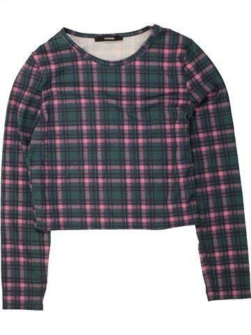 T-shirt manches longues fille GEORGE gris 12 ans hiver #1491010_1