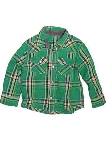 Chemise manches longues garçon MINI CLUB vert 3 ans hiver #1491042_1
