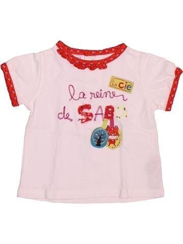 Camiseta de manga corta niña LA COMPAGNIE DES PETITS blanco 3 meses verano #1491053_1
