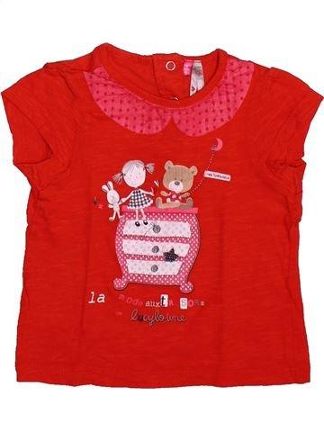 T-shirt manches courtes fille ORCHESTRA rouge 6 mois été #1491059_1
