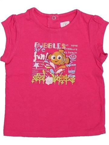 T-shirt manches courtes fille DISNEY rose 6 mois été #1491069_1