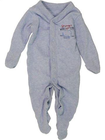Pyjama 1 pièce garçon F&F bleu naissance été #1491125_1