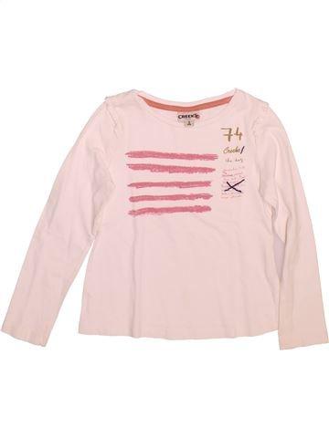 T-shirt manches longues fille CREEKS rose 5 ans hiver #1491199_1