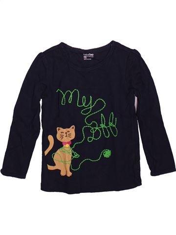 T-shirt manches longues fille GAP noir 4 ans hiver #1491225_1