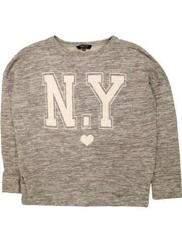 Sweat fille NEW LOOK gris 13 ans hiver #1491555_1