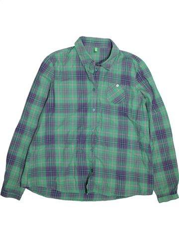 Camisa de manga larga niño BENETTON verde 12 años invierno #1491650_1