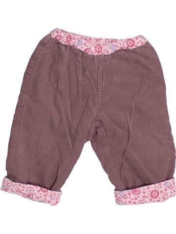 Pantalon fille PETIT BATEAU violet 6 mois hiver #1491898_1