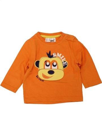 T-shirt manches longues garçon ERGEE orange 12 mois hiver #1492197_1
