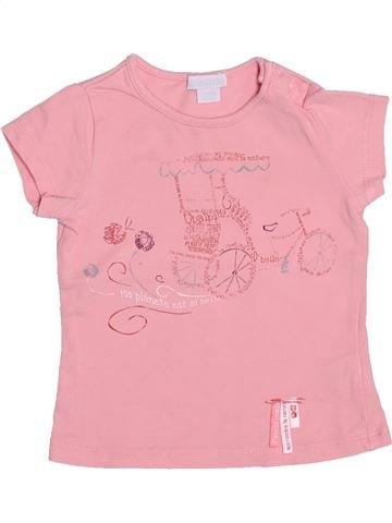 Camiseta de manga corta niña OKAIDI rosa 6 meses verano #1492226_1