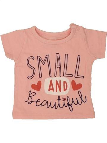 T-shirt manches courtes fille PEP&CO rose naissance été #1492295_1