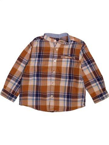 Chemise manches longues garçon ZARA marron 2 ans hiver #1492454_1