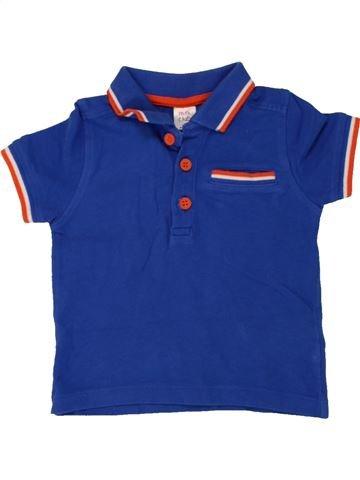 Polo de manga corta niño MINI CLUB azul 12 meses verano #1492478_1