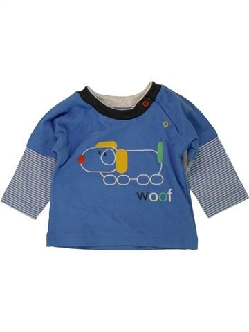 T-shirt manches longues garçon MARKS & SPENCER bleu 6 mois hiver #1492586_1