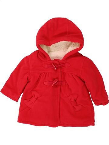 Manteau fille GEORGE rouge 3 mois hiver #1492616_1