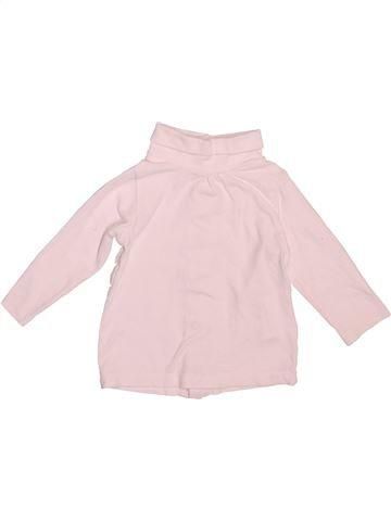 Camiseta de cuello alto niña KIMBALOO rosa 6 meses invierno #1492641_1