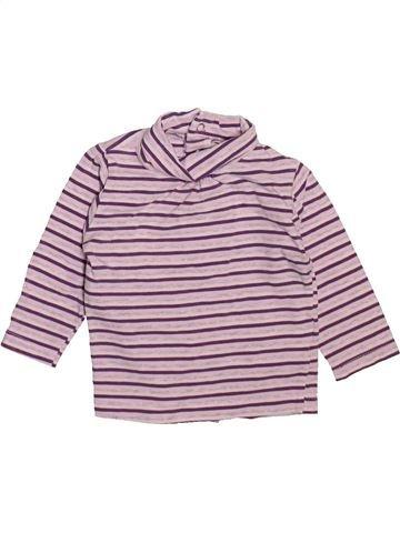 Camiseta de cuello alto niña KIMBALOO rosa 6 meses invierno #1492668_1