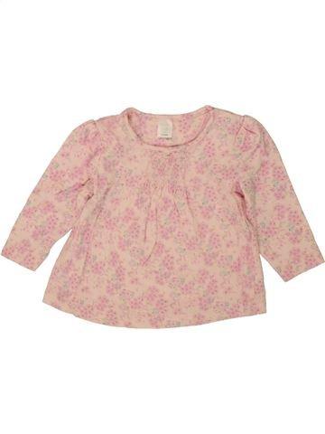 Camiseta de cuello alto niña MINI CLUB rosa 9 meses invierno #1492776_1