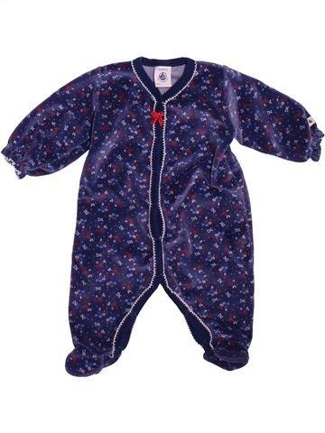 Pyjama 1 pièce fille PETIT BATEAU bleu 3 mois hiver #1492787_1