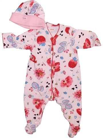 Pyjama 1 pièce fille CATIMINI blanc 1 mois été #1492790_1