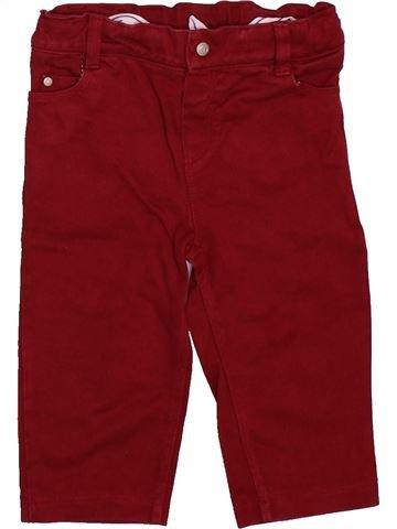 Pantalon garçon PETIT BATEAU marron 12 mois hiver #1492795_1