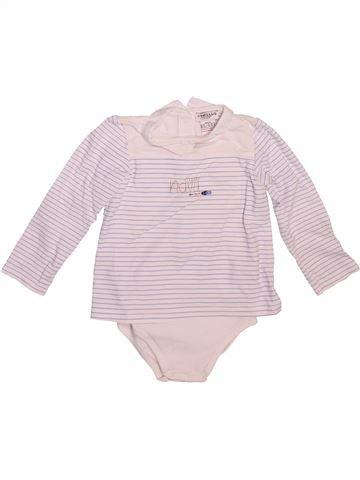Camiseta de manga larga niña CYRILLUS blanco 18 meses invierno #1492806_1