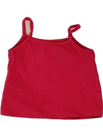 T-shirt sans manches fille PRIMARK rouge 12 mois été #1492872_1