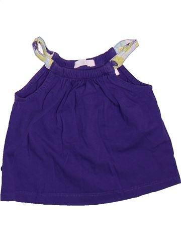 T-shirt sans manches fille OKAIDI violet 12 mois été #1492887_1
