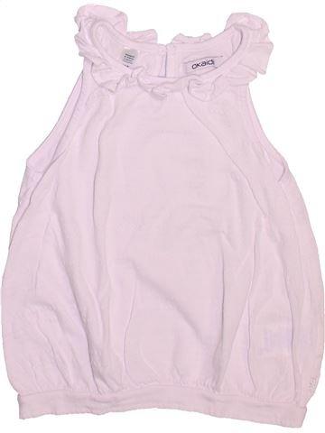 T-shirt sans manches fille OKAIDI blanc 4 ans été #1492911_1
