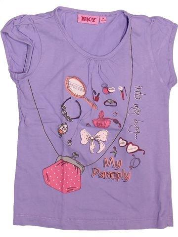 T-shirt manches courtes fille KIABI violet 5 ans été #1492944_1