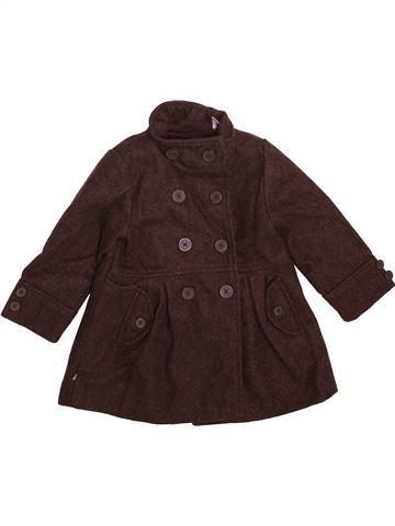 Manteau fille OKAIDI marron 18 mois hiver #1493033_1