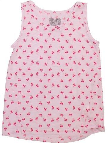 T-shirt sans manches fille F&F rose 8 ans été #1493107_1