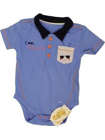 T-shirt manches courtes garçon BABY bleu 9 mois été #1493189_1