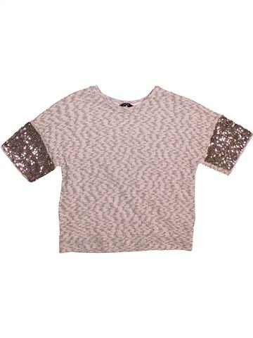 Pull fille GEORGE gris 8 ans hiver #1493224_1