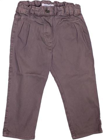 Pantalon fille OKAIDI gris 18 mois hiver #1493359_1