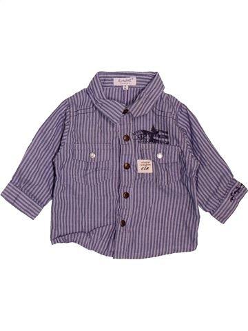 Chemise manches longues garçon ALPHABET violet 3 mois hiver #1493374_1