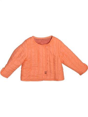 Gilet fille TAPE À L'OEIL orange 6 mois hiver #1493406_1