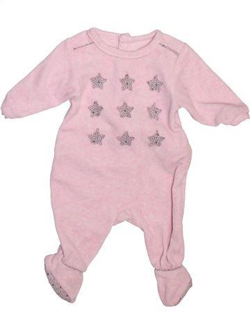 Pyjama 1 pièce fille OKAIDI violet 1 mois hiver #1493440_1