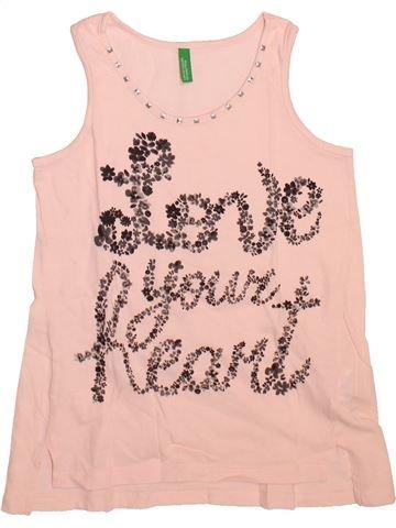 T-shirt sans manches fille BENETTON rose 7 ans été #1493540_1