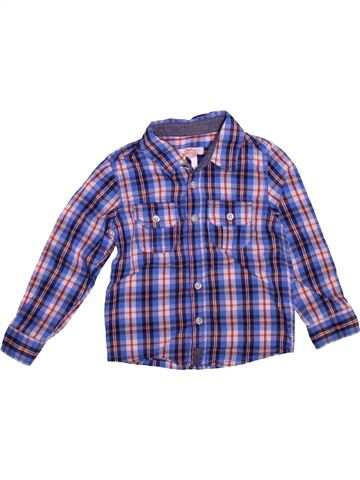 Chemise manches longues garçon LA REDOUTE CRÉATION bleu 4 ans hiver #1493571_1