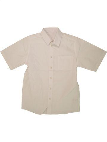 Chemise manches courtes garçon TU blanc 11 ans été #1493693_1
