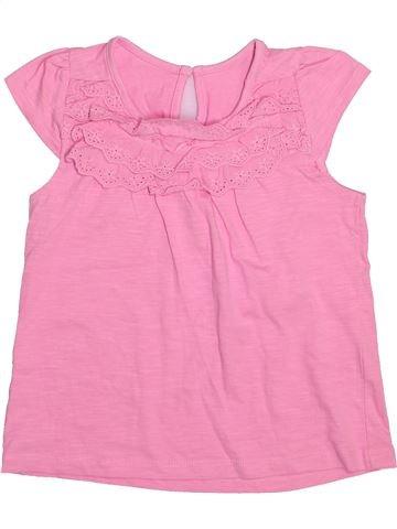T-shirt manches courtes fille MATALAN rose 5 ans été #1493777_1