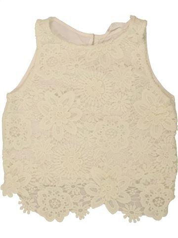 T-shirt sans manches fille H&M beige 10 ans été #1493819_1