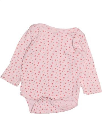 T-shirt manches longues fille GEMO rose 6 mois hiver #1493885_1