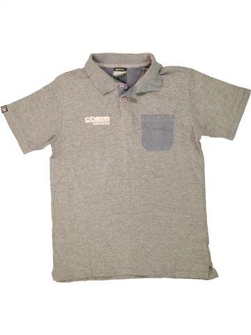 Polo manches courtes garçon CARBRINI gris 11 ans été #1494065_1