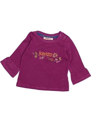 Camiseta de manga larga niña KENZO violeta 6 meses invierno #1494071_1