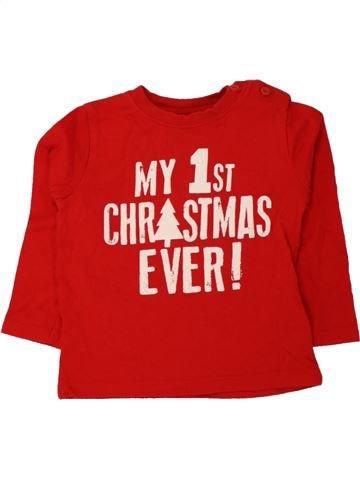 T-shirt manches longues garçon F&F rose 12 mois hiver #1494111_1