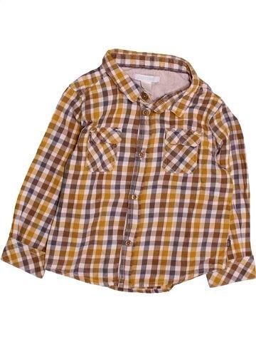 Chemise manches longues garçon OKAIDI marron 18 mois hiver #1494129_1